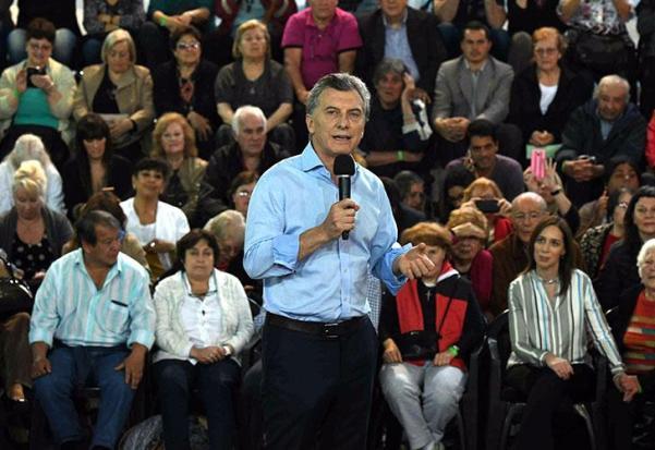 El presidente Mauricio Macri y la gobernadora María Eugenia Vidal, tuvieron un encuentro con beneficiarios de la reparación histórica para jubilados y pensionados en la localidad bonaerense de Quilmes.
