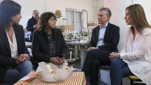 Junto a Vidal, Macri visitó una cooperativa en Berazategui