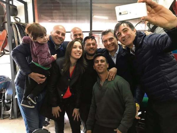 Martiniano Molina, Vidal, Macri y Esteban Bullrich, en Quilmes Cambiemos